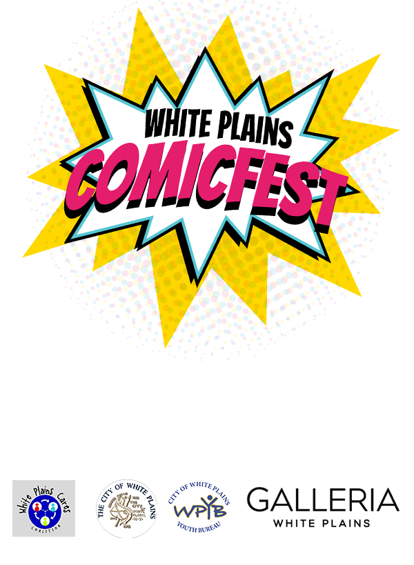 White Plains ComicFest – Saturday, April 27, 2019 – White Plains, NY Logo